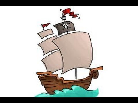 480x360 How To Draw A Pirate Ship For Kids