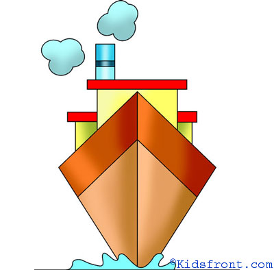 400x394 How To Draw Ship, How To Draw For Kids, How To Draw Step By Step Ship
