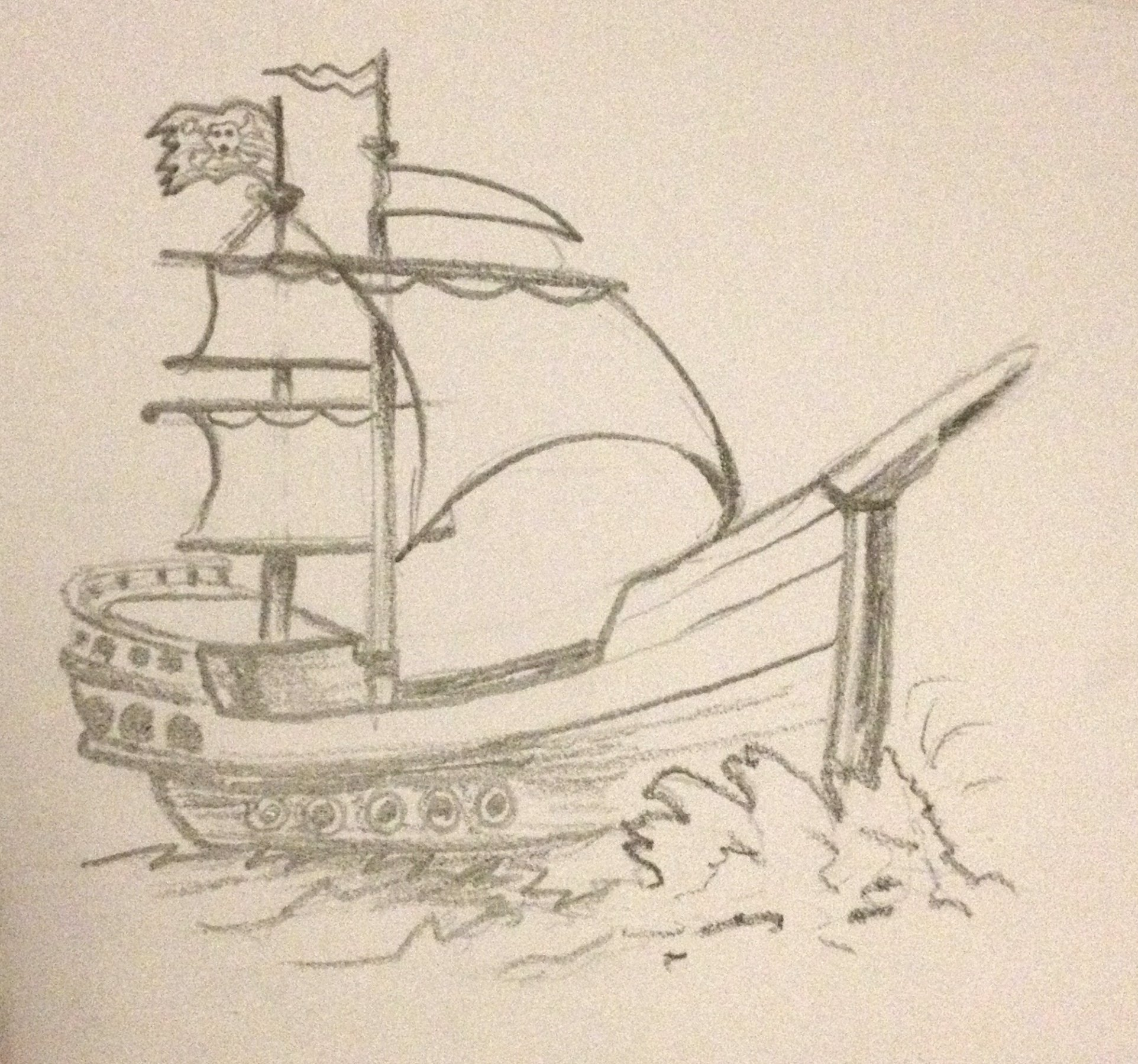1924x1799 Pirate Ship Pencil Drawing Pirate Ship Pencil Drawing Pencil