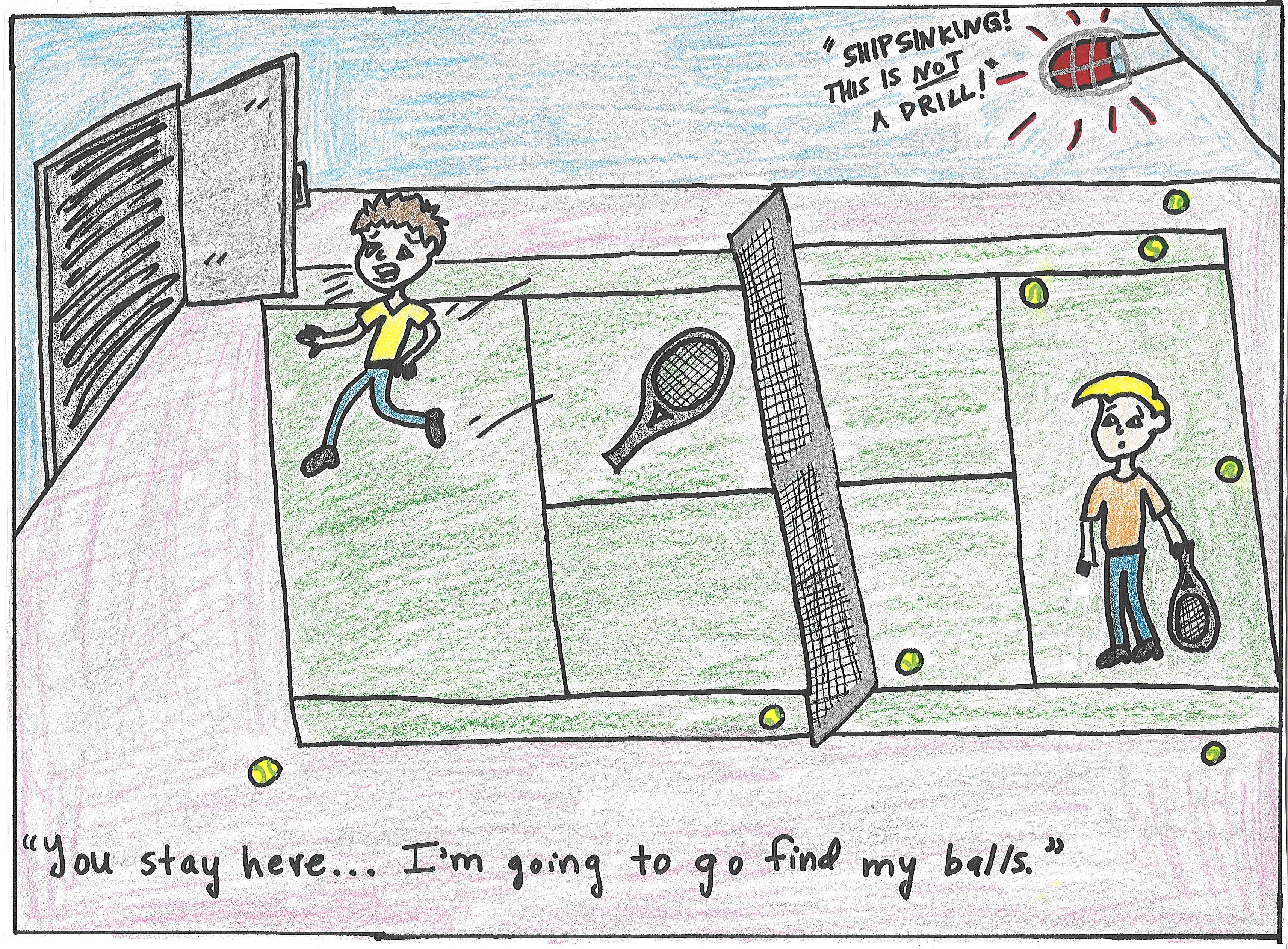 3428x2527 Draw A Cartoon Sinking Ship + Tennis Amanda Cowherd