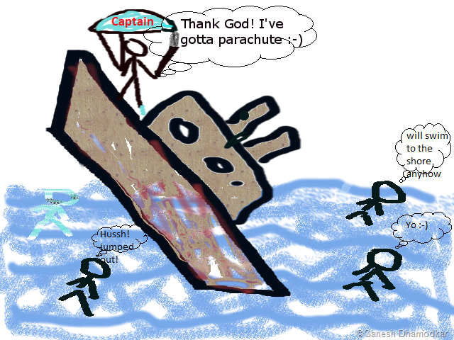 640x480 The Captain Of A Sinking Boat (A Cartoon) The Blog Of Reflections
