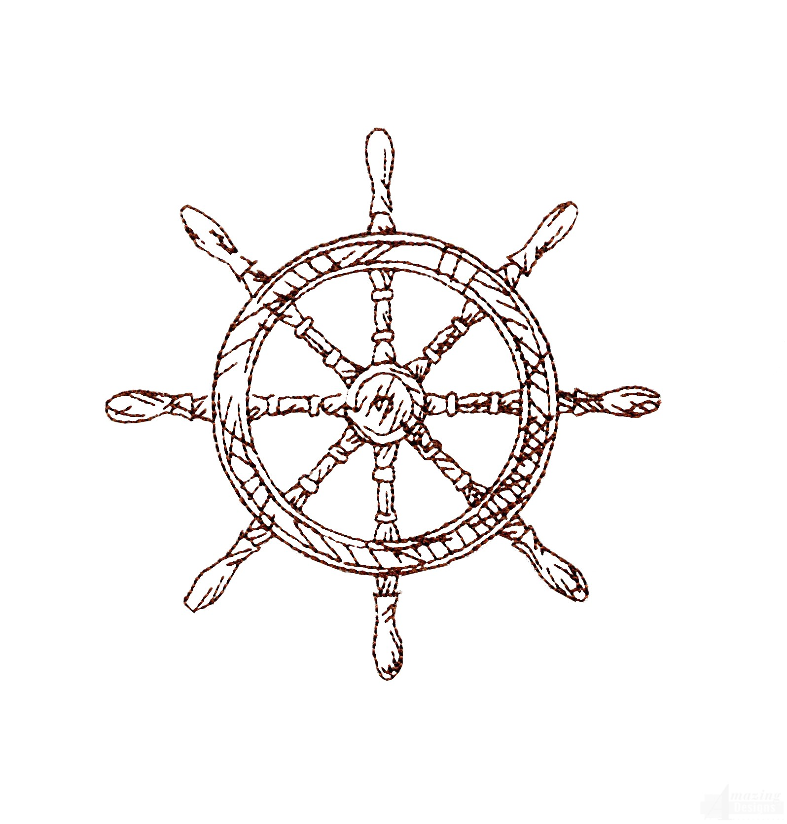 1596x1672 Ships Wheel Embroidery Design