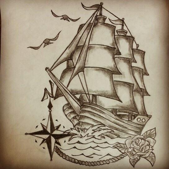 Tattoo Ideas Classic Ships Piercing Ideas Tattoo: Ship Tattoo Drawing At GetDrawings.com