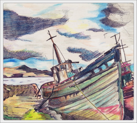 548x493 Drawing Shipwreck Nr.2 By Fotootje Vandaag Project Home Decor