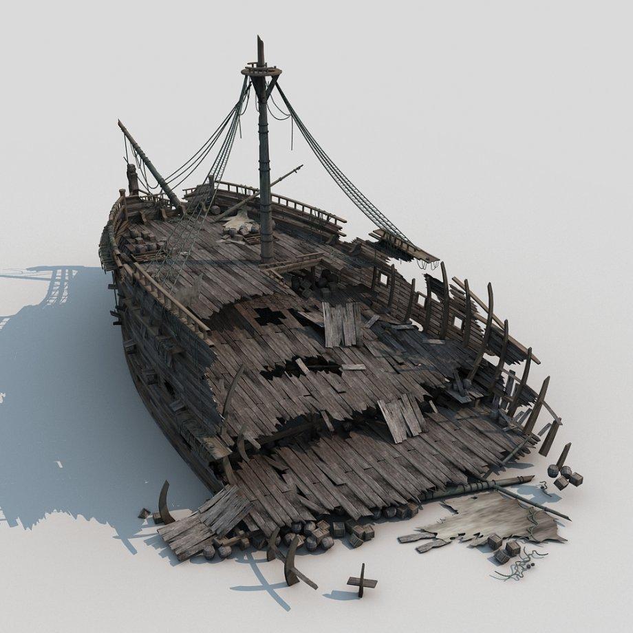 920x920 Shipwreck 3d Model