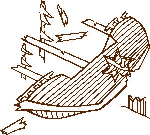 300x271 Shipwreck Clip Art
