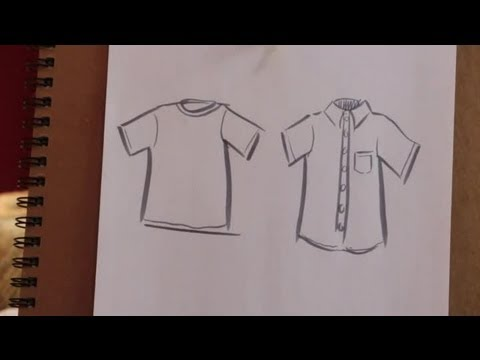 480x360 How To Sketch A Shirt On Paper Various Crafts