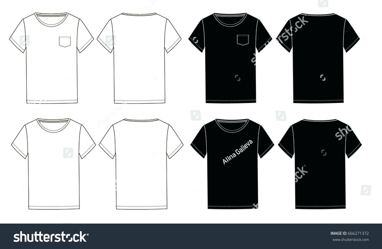 1500x979 T Shirt Drawing Template
