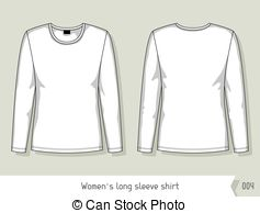 Shirt Drawing Template At GetDrawingscom Free For Personal Use - Long sleeve t shirt template