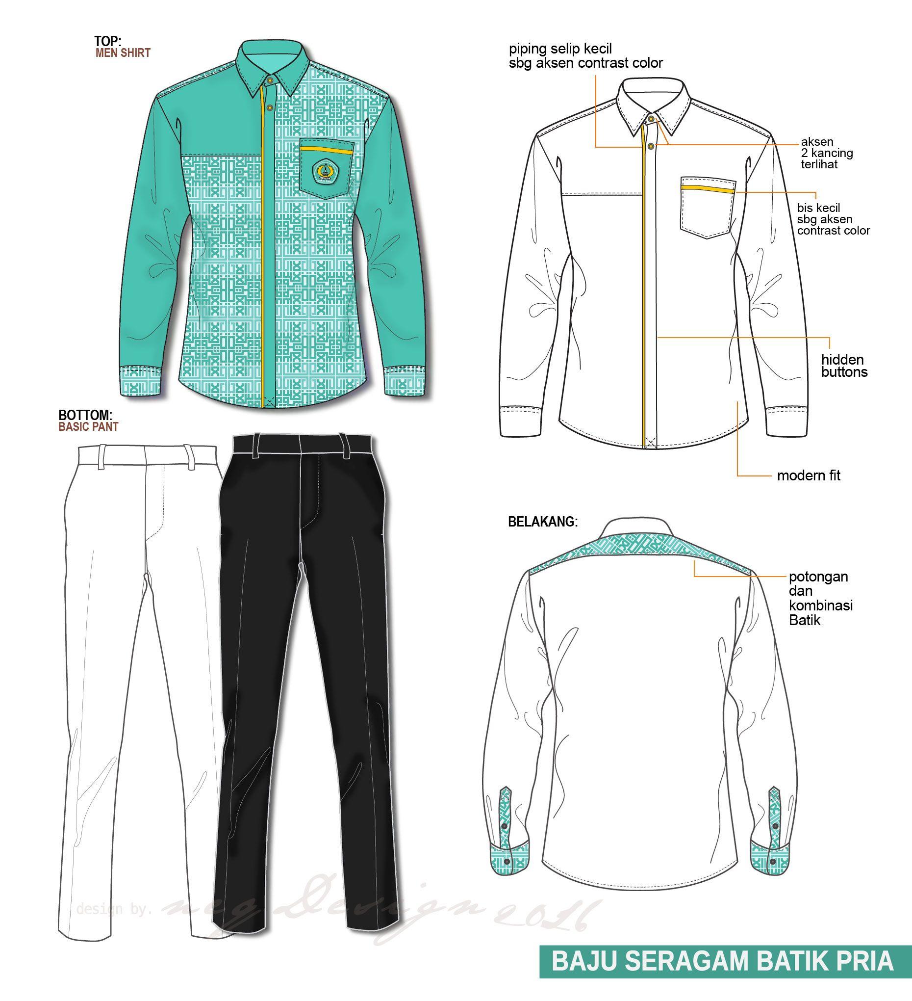 1860x2040 Desain Baju Seragam Kemeja Pria Men Shirts Batik Shirts