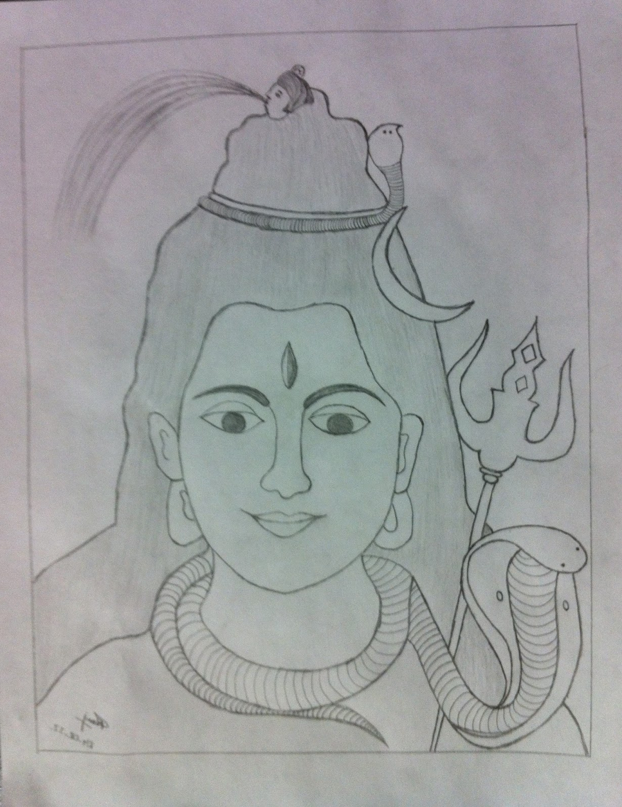 1233x1600 3d pencil colour drawing of lord shiva drawing of sketch