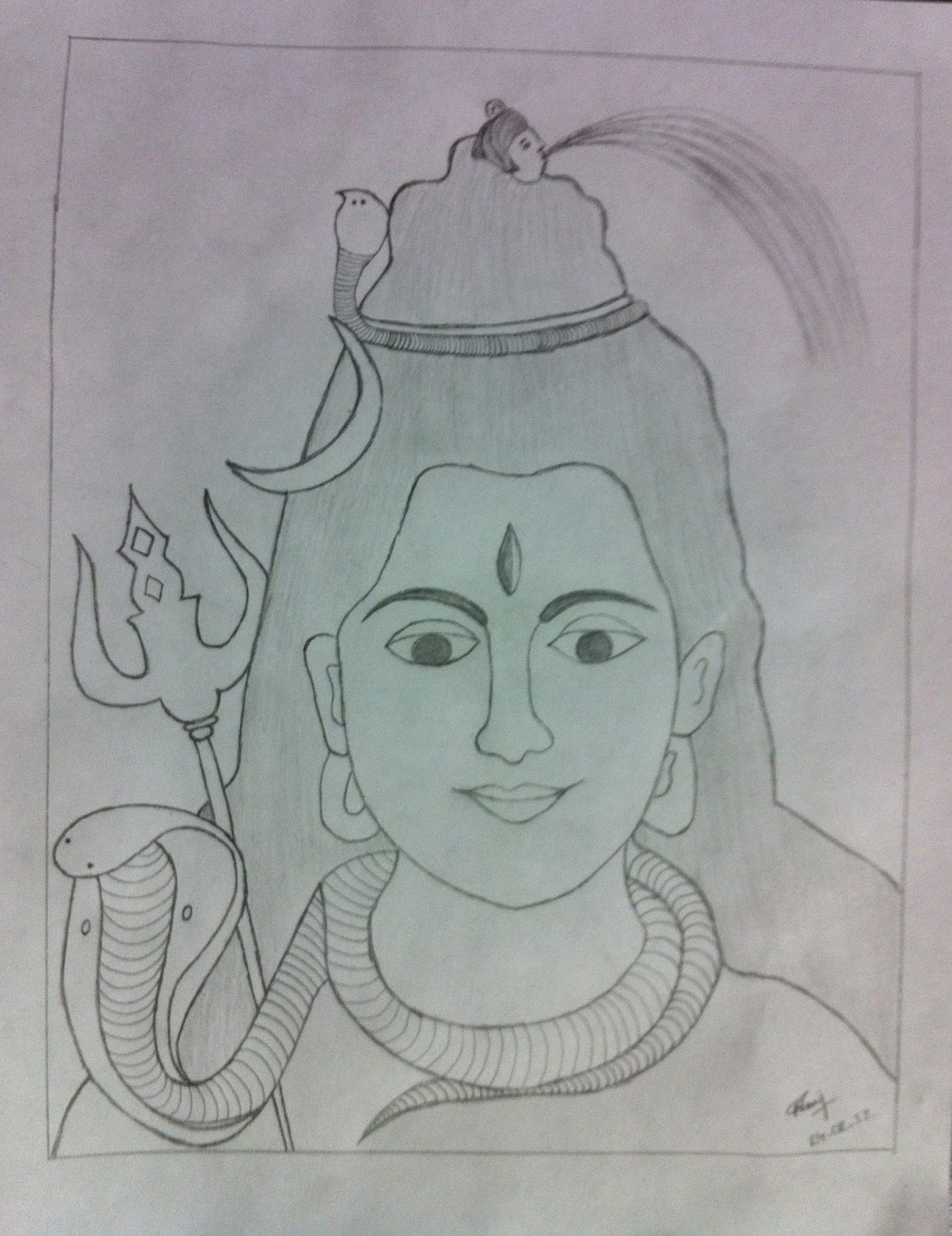 Shiva Drawing at GetDrawings.com | Free for personal use Shiva ...