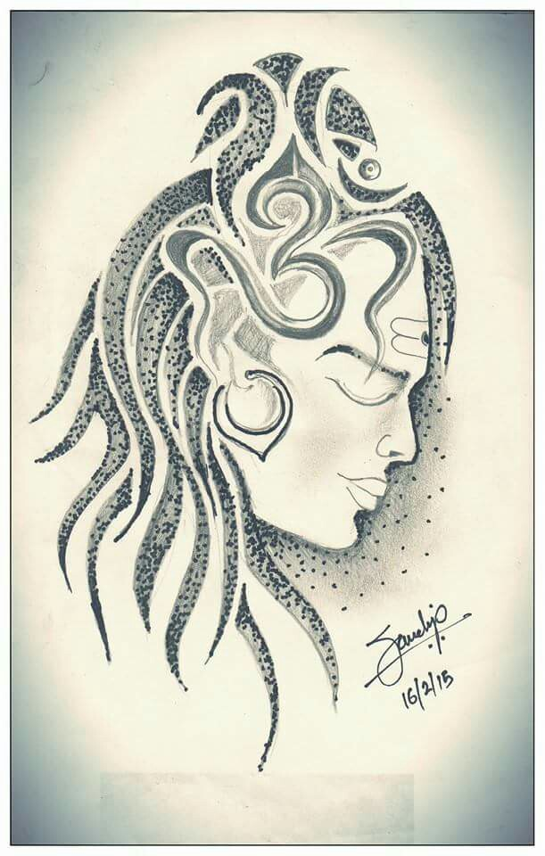 611x960 Shiva Tattoo Drawing By Sandip Uttam Shiva Tattoo