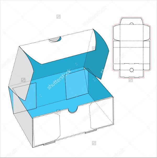 600x606 Shoe Box Templates