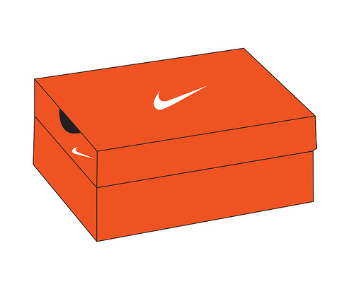 Red Top Plastic Shoe Boxes