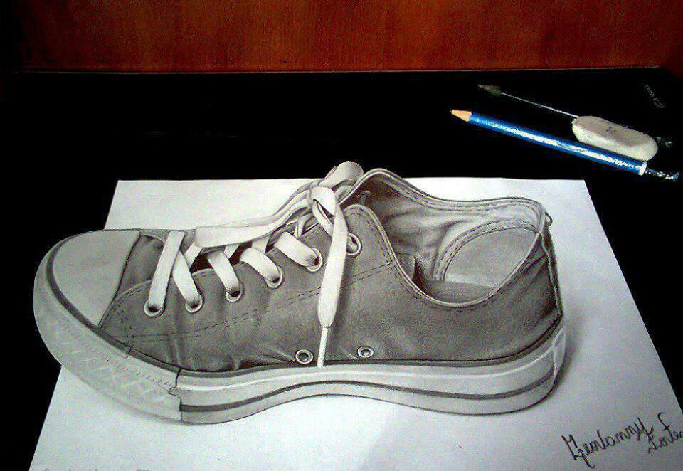 960x662 Creative Shoe Drawing 3d Cool Lesson In Depth And Mc Escher