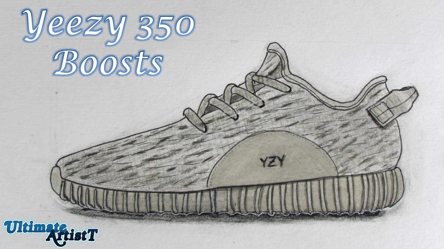 1502x843 Realistic Shoes Yeezy 350 Boosts (Speed Drawing)
