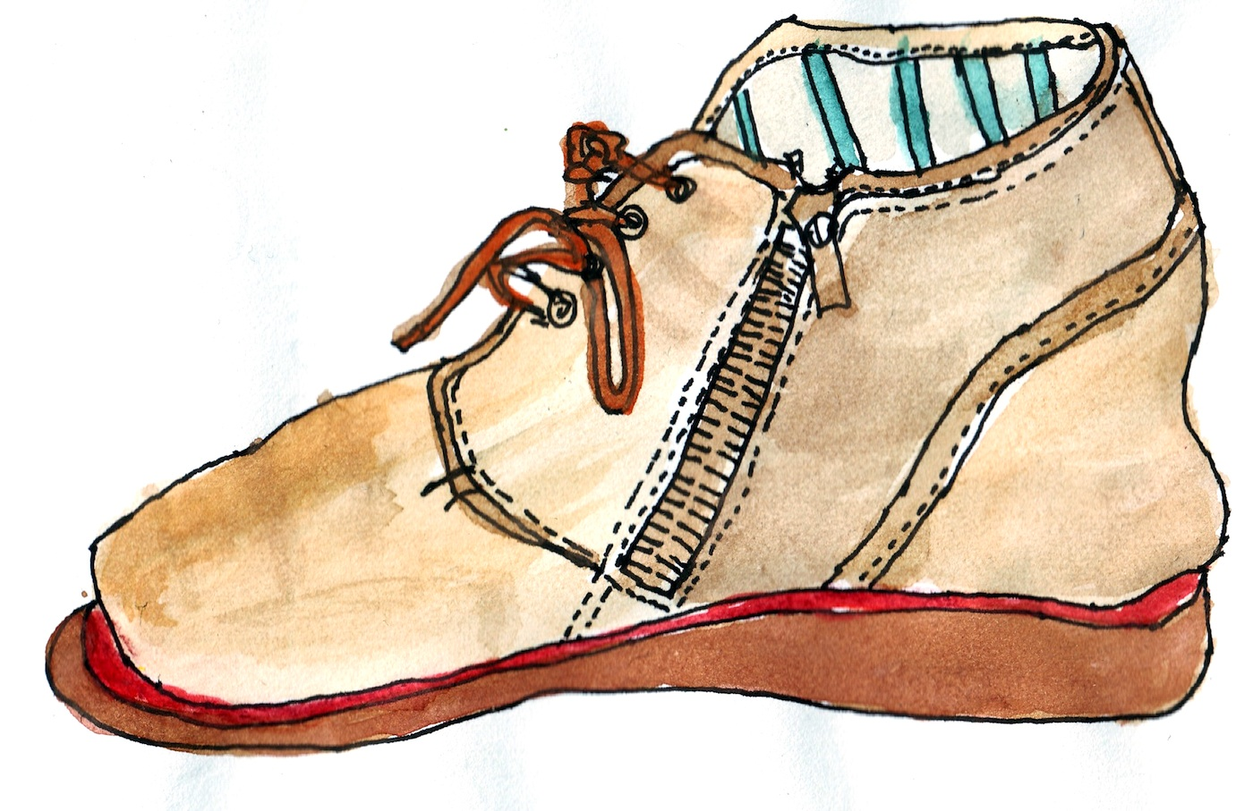 1400x907 Shoe {Drawing} The Blog Of Marc Hummel Brooklyn, Ny