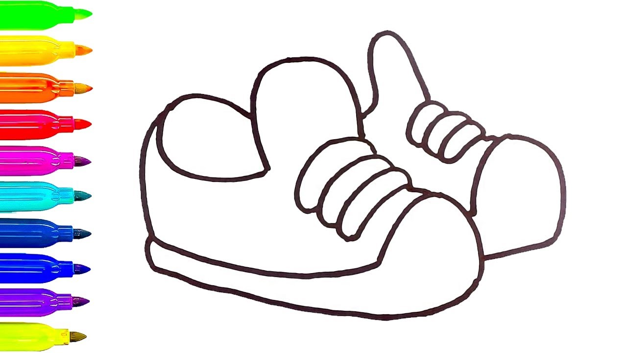 1280x720 Coloring Pages Of Baby Shoes Bgcentrum