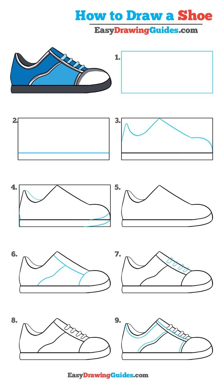 736x1272 How To Draw A Shoe In A Few Easy Steps Easy Drawing Tutorial