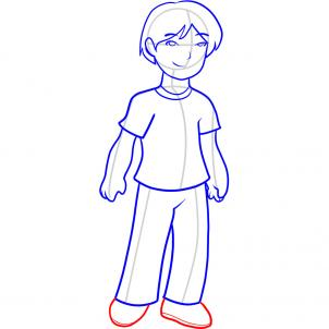 302x302 How To Draw How To Draw A Boy For Kids