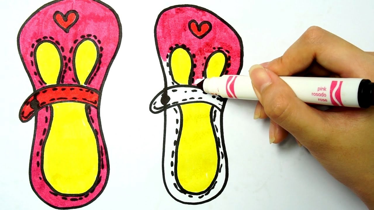 1280x720 Learn To Draw And Coloring Cute Shoes For Girls Drawing For Kids