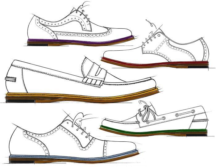 700x541 Sketch Of Vintage Men's Shoes. Fresh Sketches