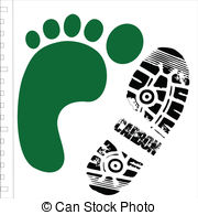 180x195 Global Shoe Print. Carbon Shoe Print Around The Globe Vector