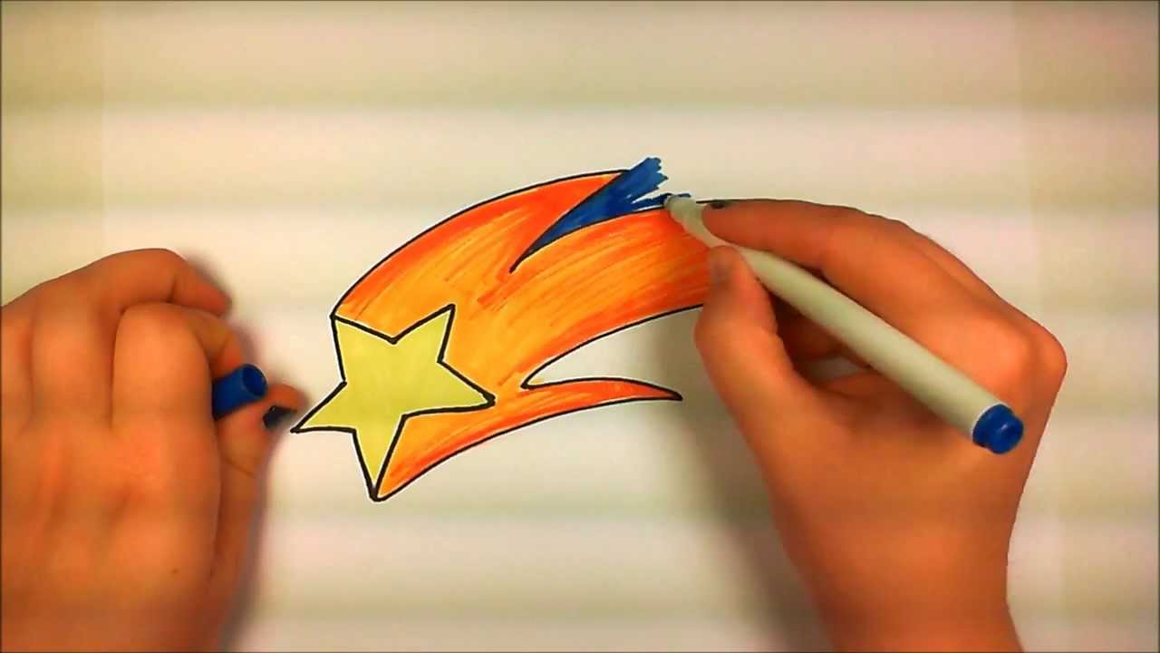 1280x720 Learn How To Draw An Easy Shooting Star