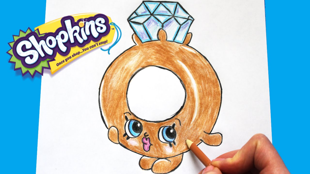 1280x720 How To Draw Shopkins Season 3 Roxy Ring Limited Edition Step By
