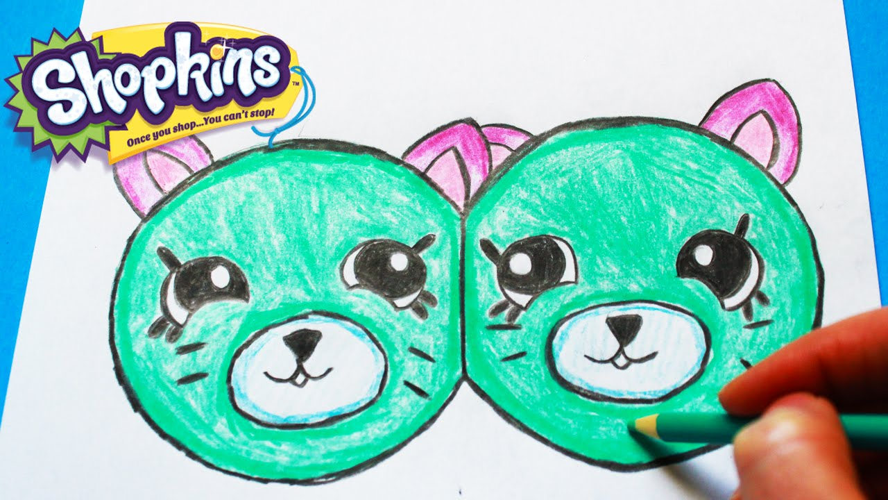 1280x720 How To Draw Shopkins Season 4 Earring Twins Petkins Step By Step