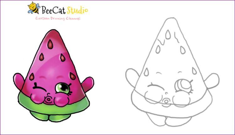Superb 749x432 Shopkin World How To Draw Shopkins Season 1 Melonie Pips