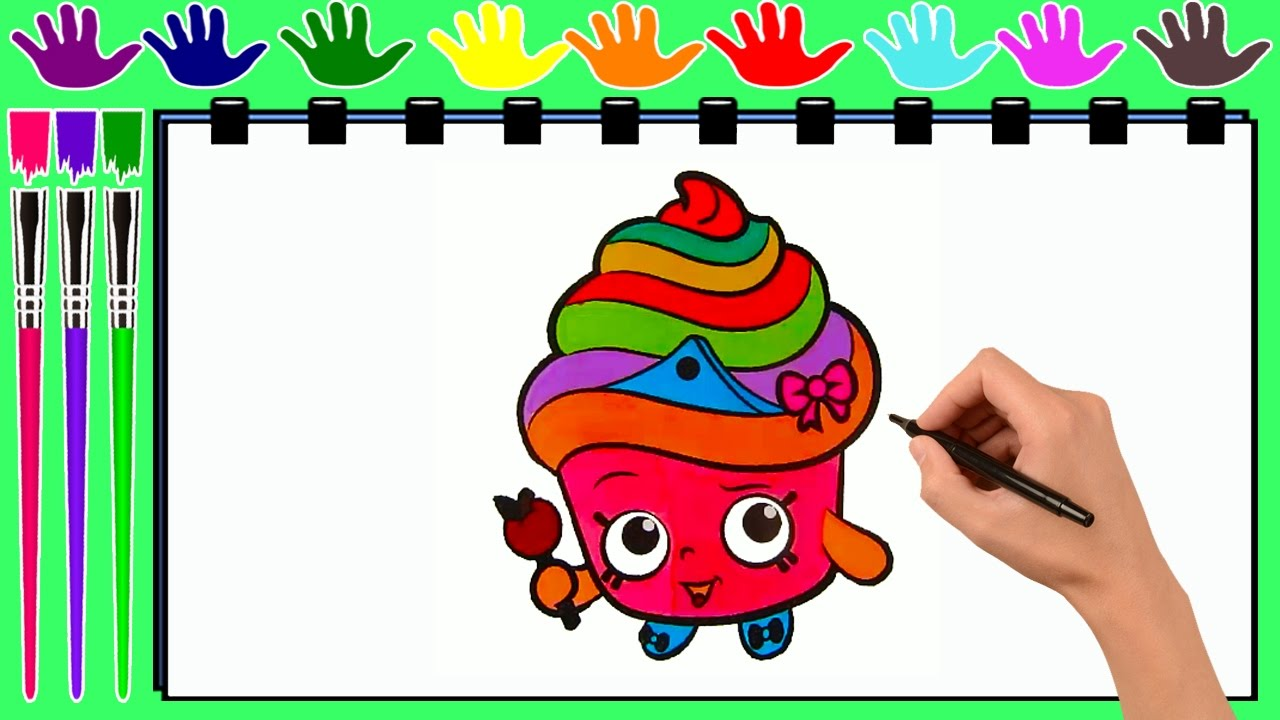 1280x720 Coloring Pages CUPCAKE QUEEN SHOPKINS Drawing To Color For
