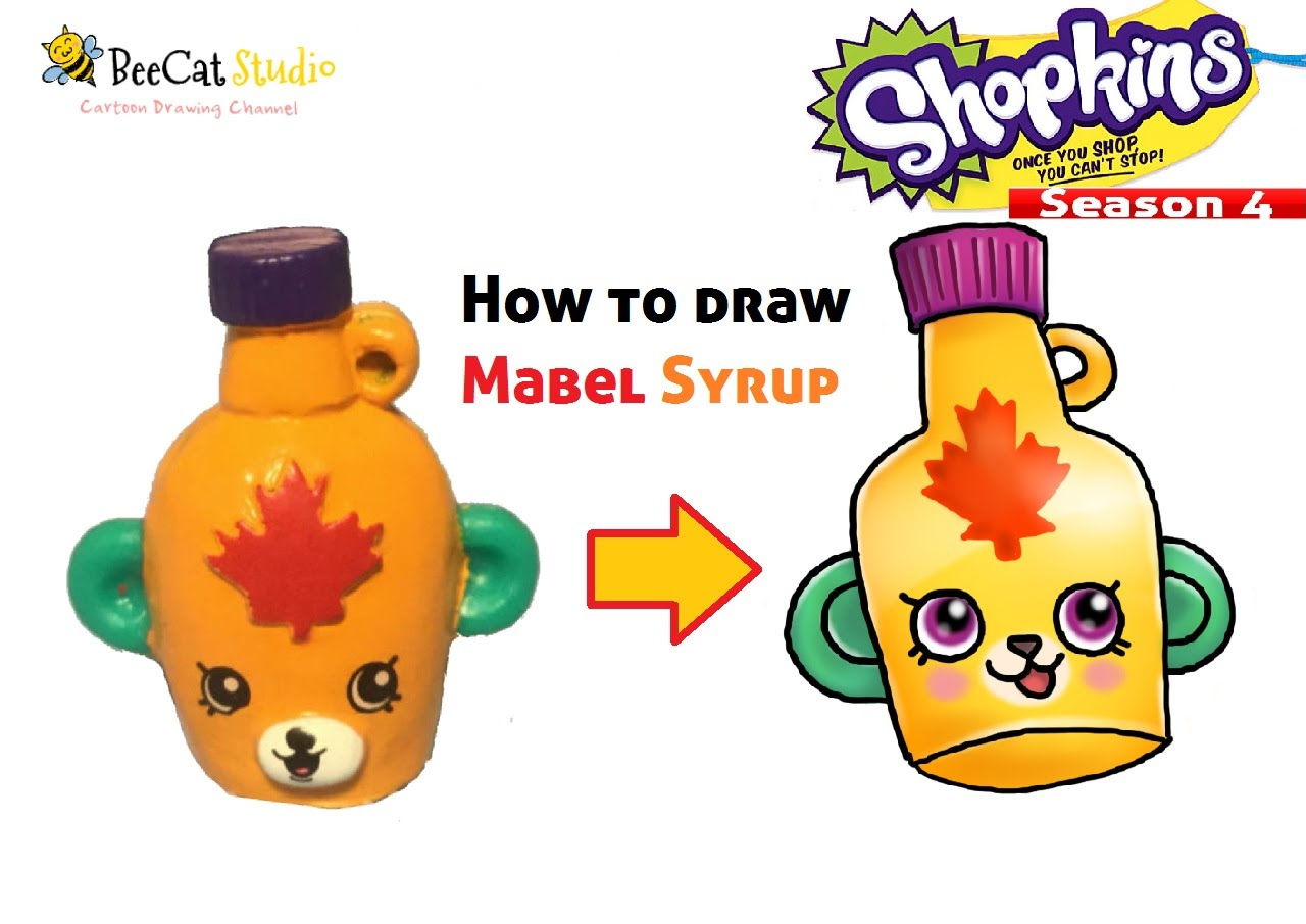 1280x906 How To Draw Shopkins Season 4 Mabel Syrup ~ So Cute