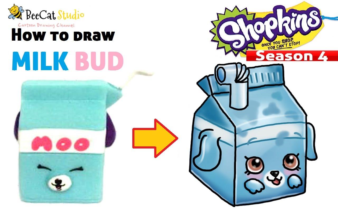 1280x800 How To Draw Shopkins Season 4 Milk Bud~ Petkins