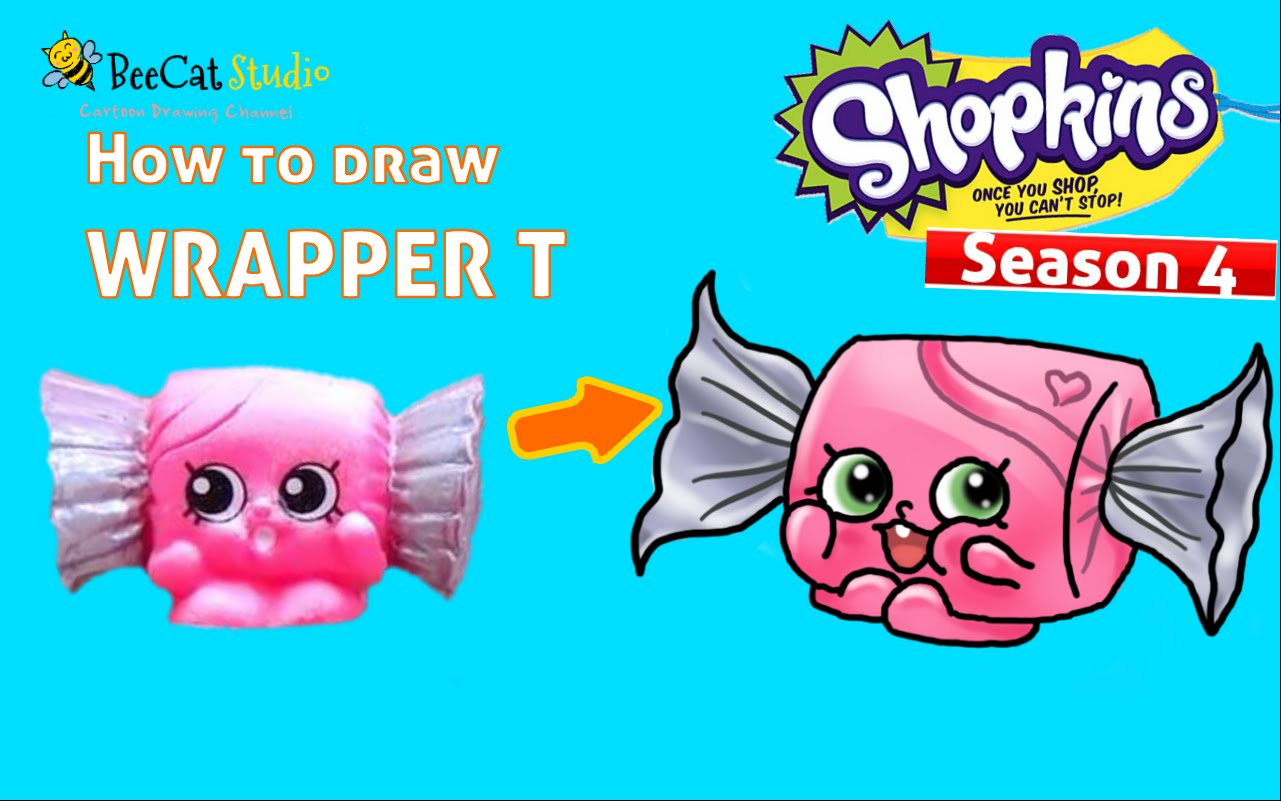 1281x801 How To Draw Shopkins Season 4 Wrapper T From Candy Collection