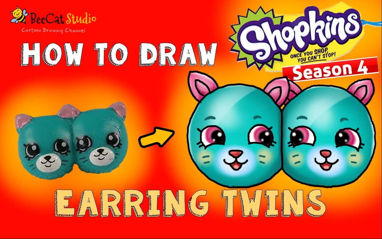 1281x801 How To Draw Shopkins Season 4 Petkins Earring Twins