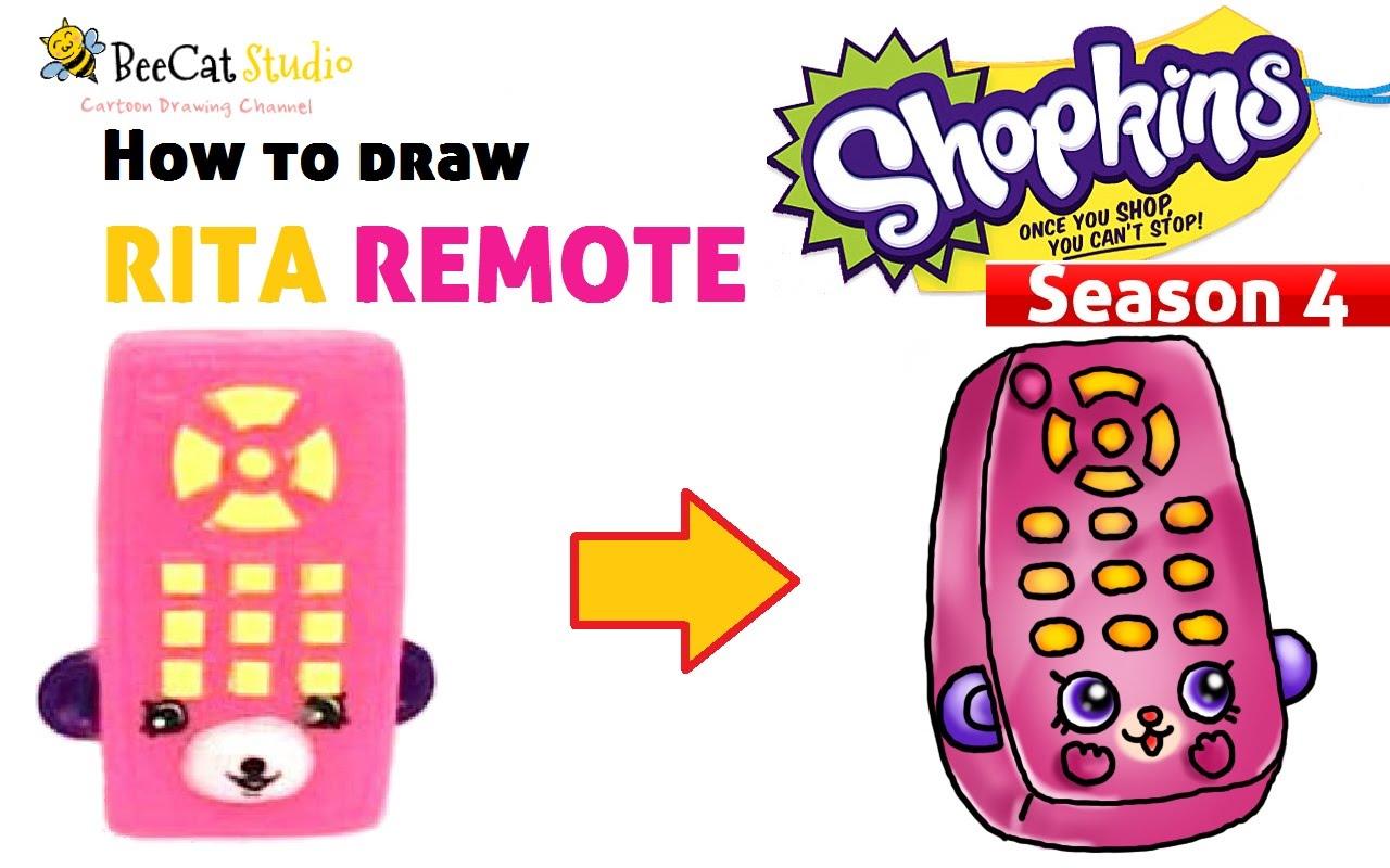 1280x800 How To Draw Shopkins Season 4 Rita Remote So Cute