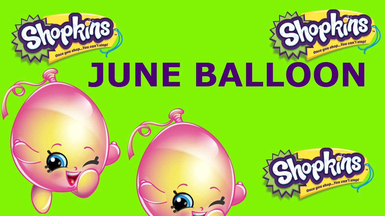 1280x720 Shopkins Season 4 Toys June Balloon Drawing Fun Learn To Draw