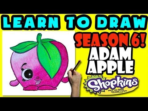 480x360 How To Draw Shopkins Season 6 Adam Apple, Step By Step Season 6