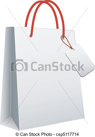 328x470 White Shopping Bag, Vector. White Blank Shopping Bag, Vector