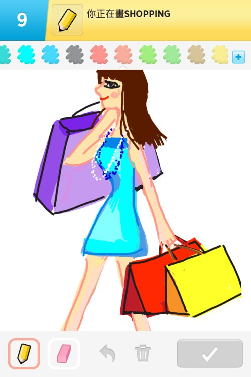 500x750 Shopping Drawings