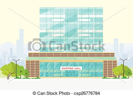 450x325 Shopping Mall Building Exterior Vector. Shopping Mall Vector