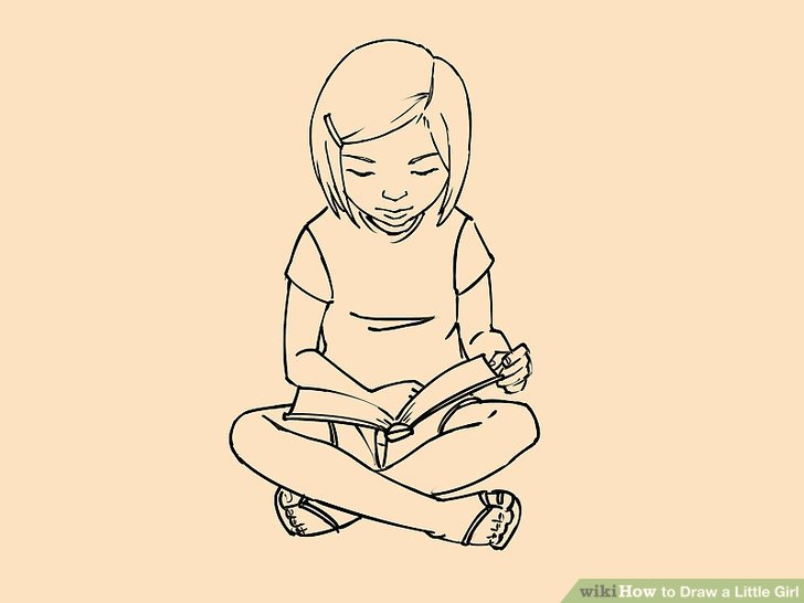 728x546 How To Draw A Little Girl (With Pictures)