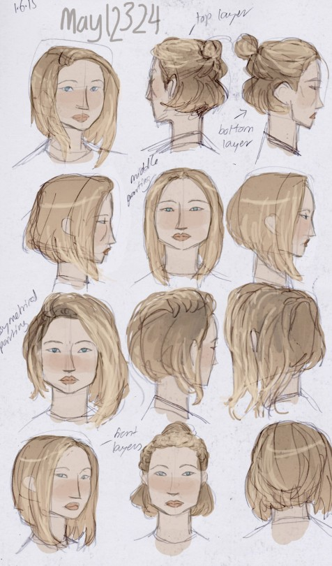 476x810 Gallery How To Draw Short Hair