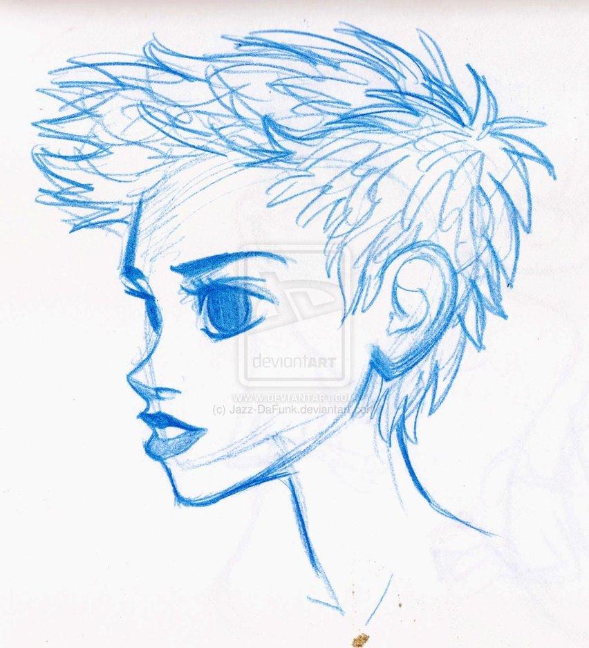 852x937 Short Hair Sketch Life Tutorial Style Short Hair