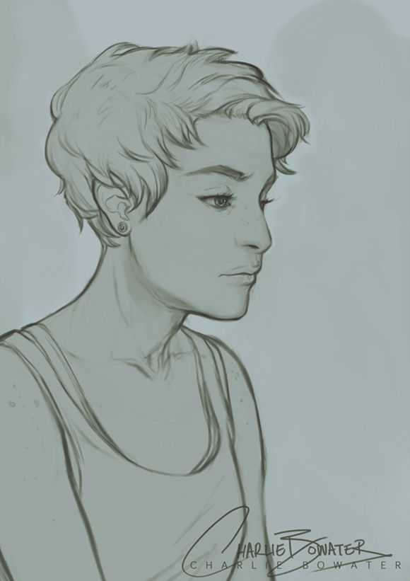 580x821 Charlie Bowater Illos Damien Rice, Sketches