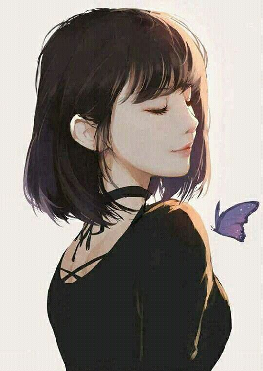 540x763 Pin By Anh Phuong On Short Hair Girl Anime