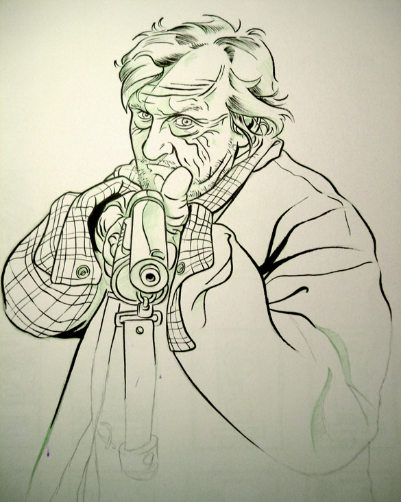 585x732 Hobo With A Shotgun Poster Process