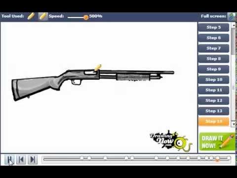 480x360 How To Draw A Shotgun
